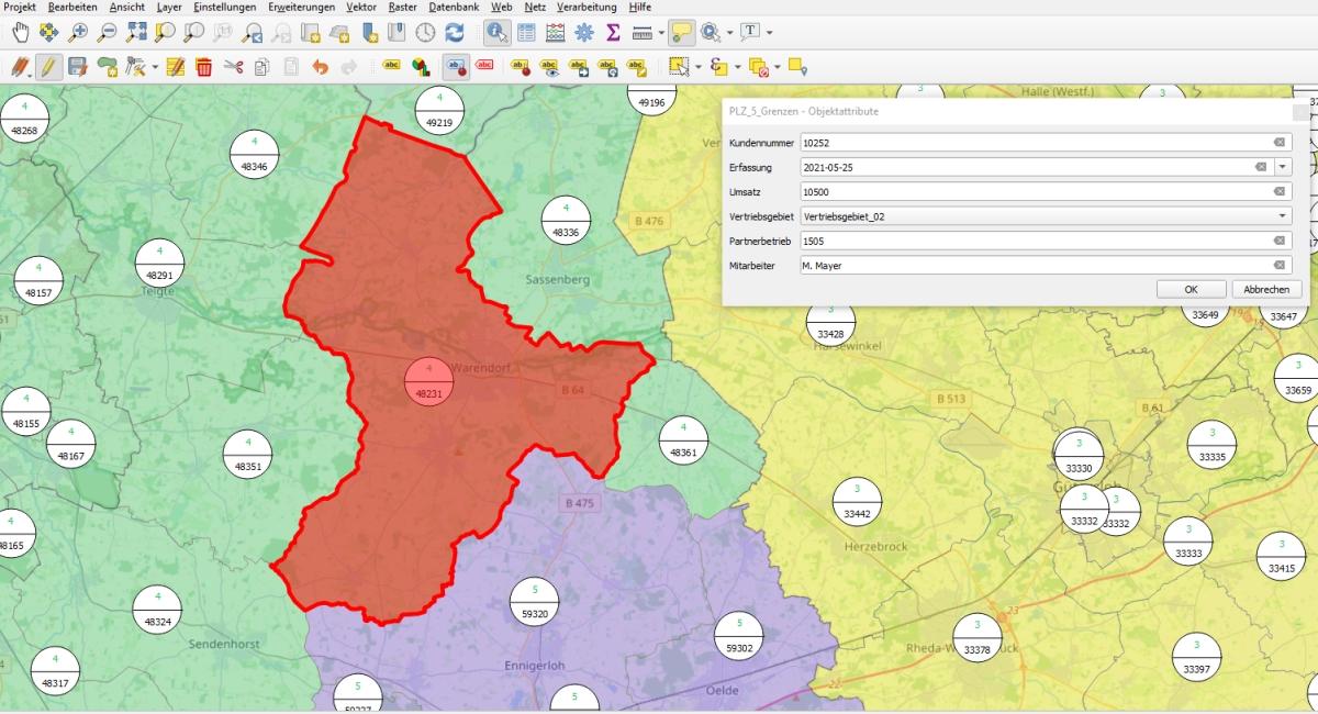 Gebietsplanung Software