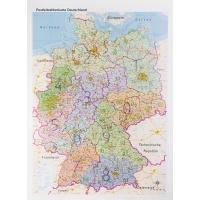 Plz Karte.Postleitzahlenkarte Deutschland Laminiert